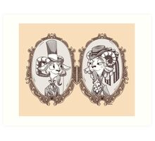 goat locket Art Print