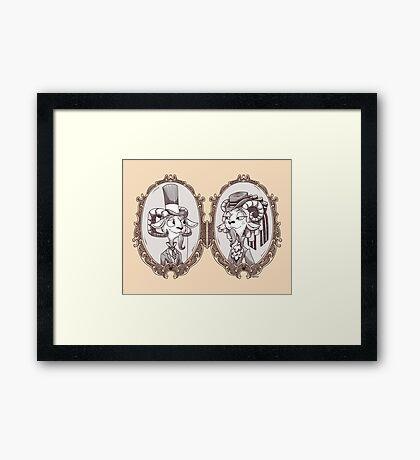 goat locket Framed Print