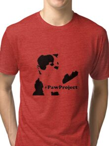 Cat Paw Tri-blend T-Shirt