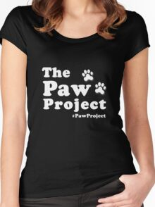 Paw Project Logo in White Women's Fitted Scoop T-Shirt