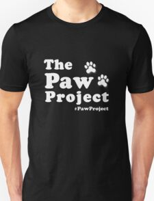 Paw Project Logo in White T-Shirt