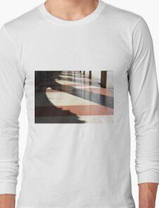 Rhythmic shadows from columns in portico.  Long Sleeve T-Shirt