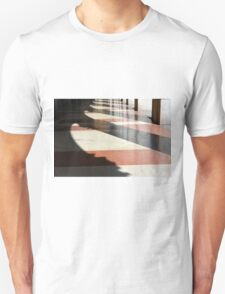 Rhythmic shadows from columns in portico.  Unisex T-Shirt