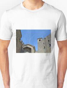 Stone building facades from San Marino. Unisex T-Shirt