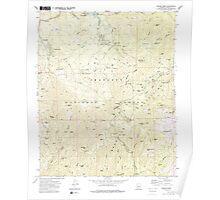 USGS TOPO Map Arizona AZ Groom Creek 311592 1974 24000 Poster