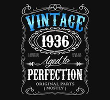 Vintage 1936 aged to perfection 80th birthday gift for men 1936 birthday Unisex T-Shirt