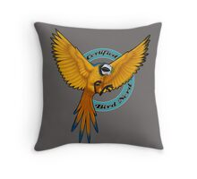 Certified Bird Nerd Throw Pillow