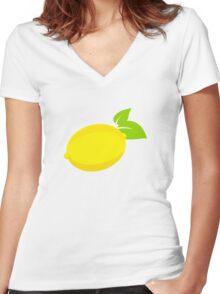 LEMONS Women's Fitted V-Neck T-Shirt