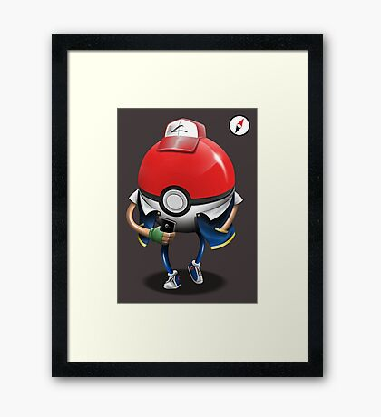 Poke Ball Go! Framed Print