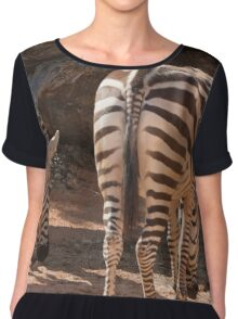 zebra in the forest Chiffon Top