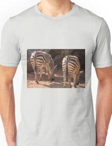 zebra in the forest Unisex T-Shirt