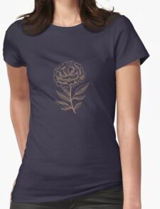 Hand Drawn Flower Womens Fitted T-Shirt