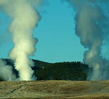 Morning Light Geysers by Trent Sizemore