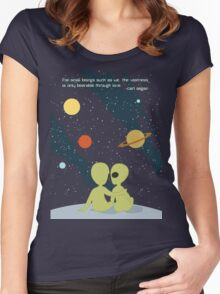 Carl Sagan Alien Love Women's Fitted Scoop T-Shirt