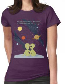 Carl Sagan Alien Love Womens Fitted T-Shirt