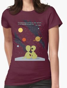 Carl Sagan Alien Love Womens Fitted T-Shirt