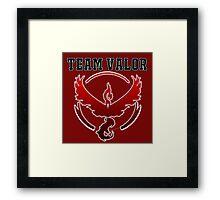 Team Valor Jersey/School Style Framed Print