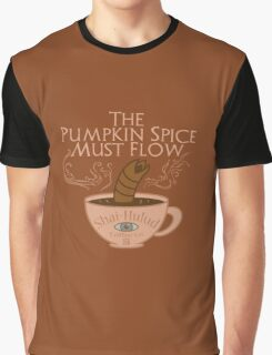 The Pumpkin Spice Must Flow Graphic T-Shirt