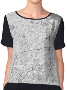 Buenos Aires Map Line Chiffon Top
