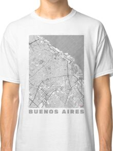 Buenos Aires Map Line Classic T-Shirt