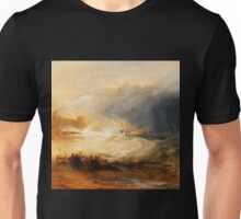 Wreckers Coast of Northumberland by JMW Turner Unisex T-Shirt