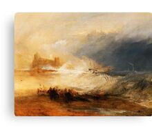 Wreckers Coast of Northumberland by JMW Turner Canvas Print