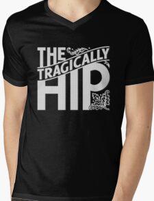THE TRAGICALLY HIP WHITE Mens V-Neck T-Shirt