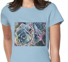 Autumn Echeveria imbricata Womens Fitted T-Shirt