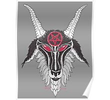 Baphomet Red Pentagram Poster