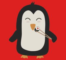 Penguin with sushi Baby Tee