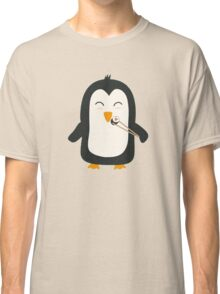 Penguin with sushi Classic T-Shirt