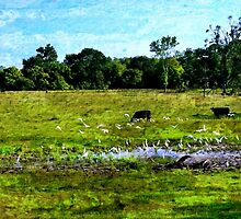 Gathering at the Water Hole by Lisa Taylor