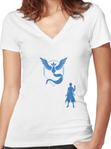 Pokemon BLANCHE Women's Fitted V-Neck T-Shirt