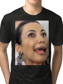 Kim Kardashian Face Tri-blend T-Shirt
