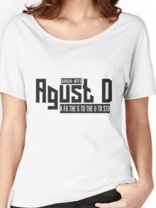 Agust D - BTS suga Women's Relaxed Fit T-Shirt