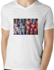 Matrioshka, russian set of dolls Mens V-Neck T-Shirt