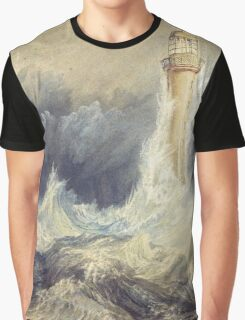 Bell Rock Lighthouse by JMW Turner Graphic T-Shirt