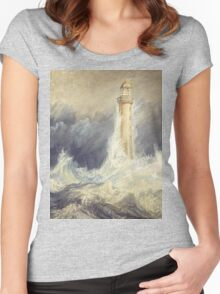 Bell Rock Lighthouse by JMW Turner Women's Fitted Scoop T-Shirt