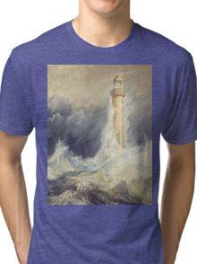 Bell Rock Lighthouse by JMW Turner Tri-blend T-Shirt