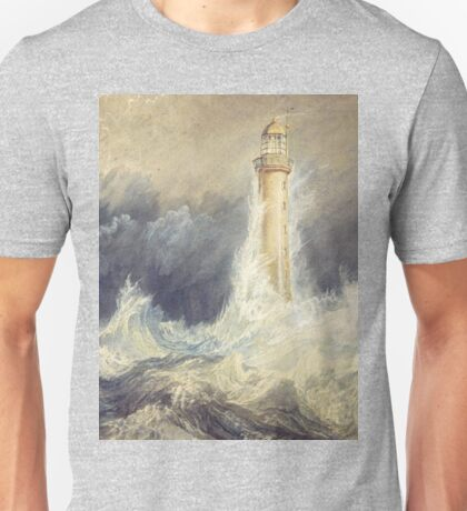 Bell Rock Lighthouse by JMW Turner Unisex T-Shirt