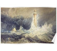 Bell Rock Lighthouse by JMW Turner Poster