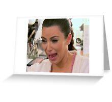 Kim Kardashian Face 2 Greeting Card