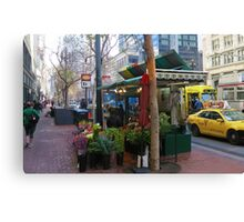 In The Morning on Market Street Canvas Print