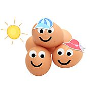 Happy little Egg Heads Photographic Print
