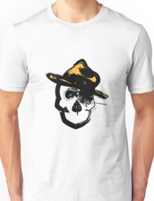 Skull with Fedora Unisex T-Shirt