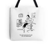 Television voting by phone cartoon. Tote Bag