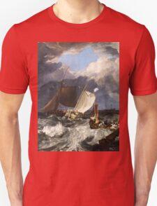 Calais Pier by JMW Turner Unisex T-Shirt