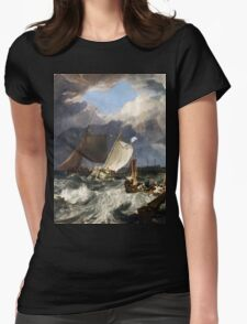 Calais Pier by JMW Turner Womens Fitted T-Shirt