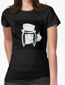 wanna see a magic trick? Womens Fitted T-Shirt