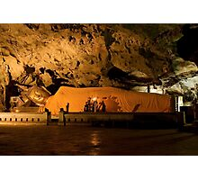Reclining Buddha in Cave Sanctuary  Photographic Print
